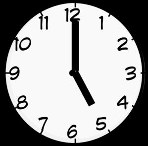 5 O Clock Clip Art At Clkercom Vector Clip Art Online Royalty