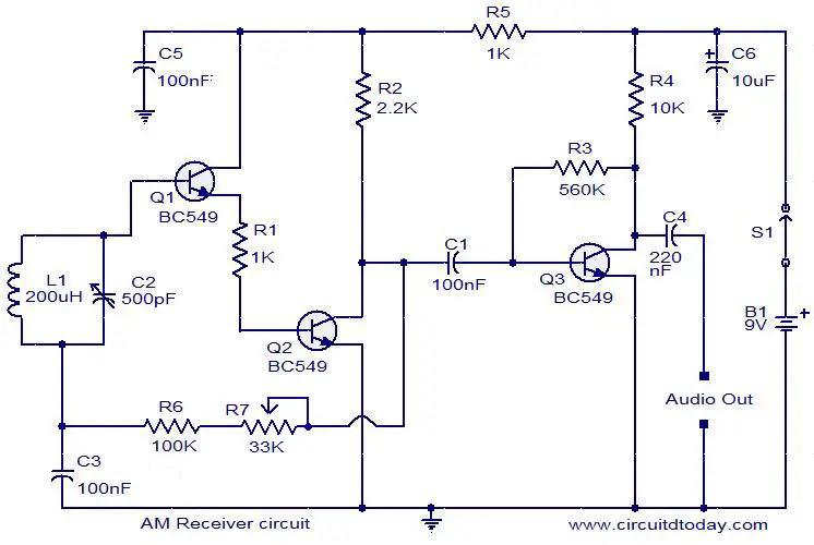 Am Radio Receiver Pcb Diagram And Design