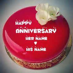 Write Name On Happy Anniversary Cakes Online Free