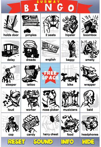 Subway bingo iphone app