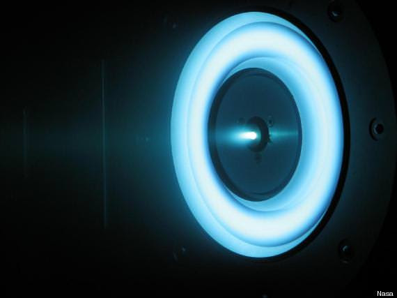 The comforting blue glow of an ion drive. Image Credit: NASA