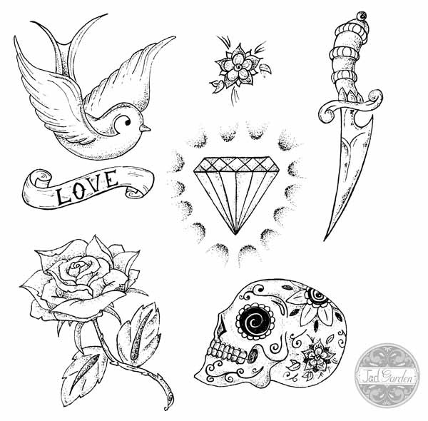 Dessin Tatouage Tete De Mort Avec Rose