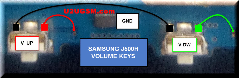 Samsung Galaxy J5 J500H  Volume Up Down Keys Not Working Problem Solution Jumpers