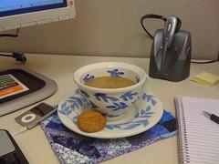 Mug Rug at work