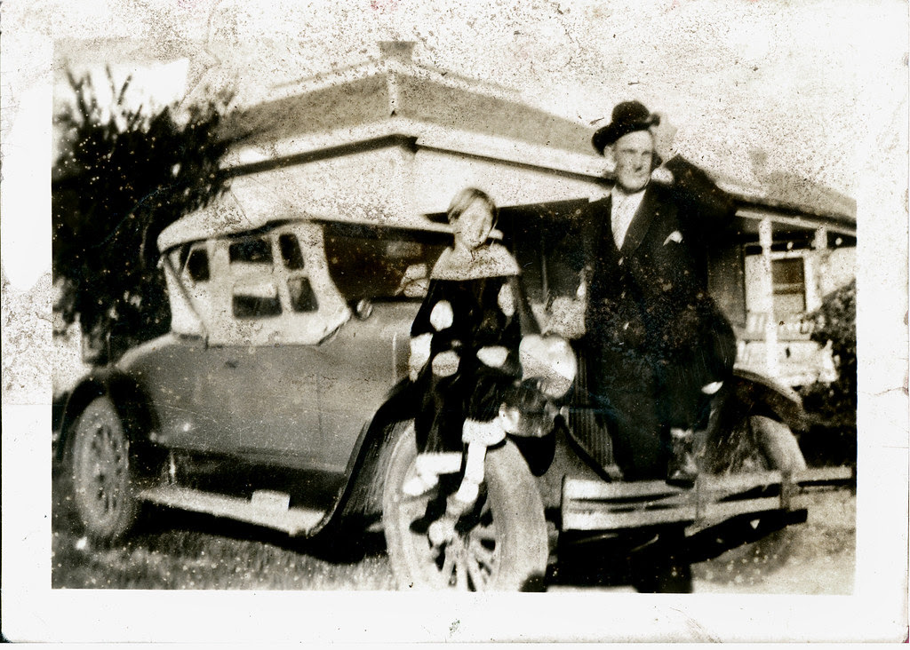 Dad and Daughter with auto