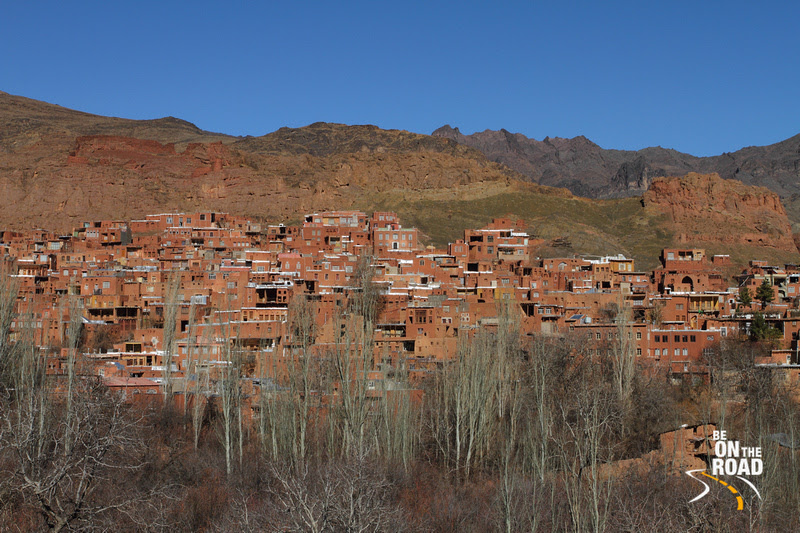 Abyaneh mountain town view