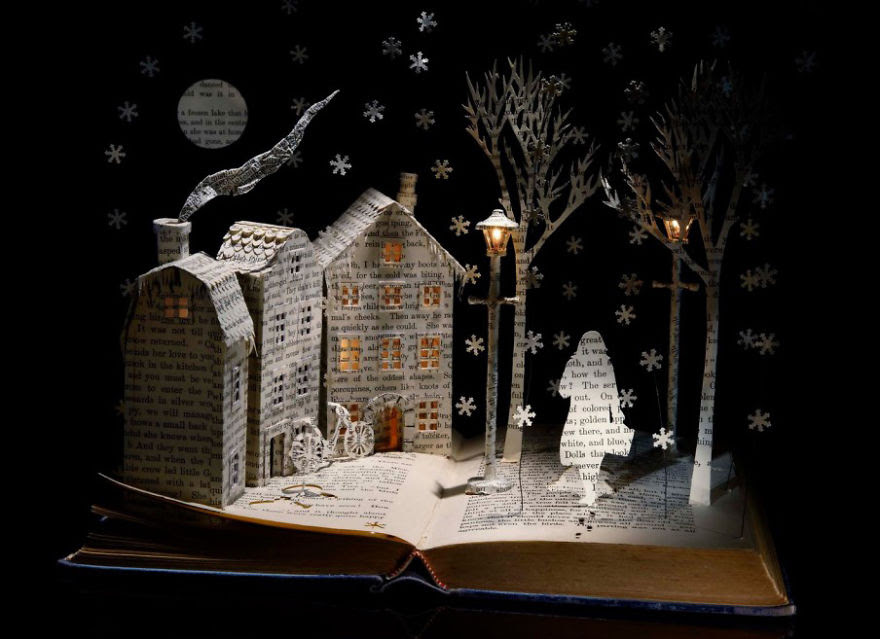 Winter Fairytale Book Sculpture
