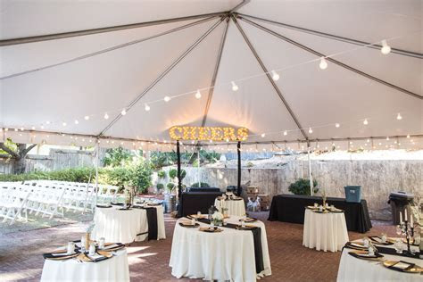 Outdoor Cocktail Hour Decor. Lighting from Empire Lighting