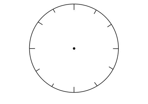 Number Names Worksheets : blank clock face ~ Free Printable ...