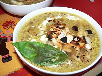 Soupe basilic