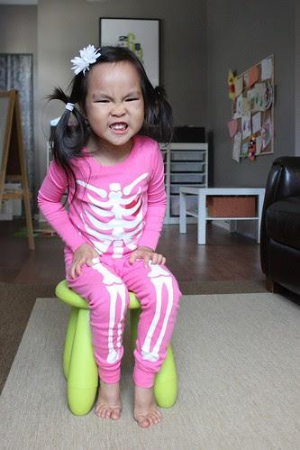 scary skeleton pajamas!