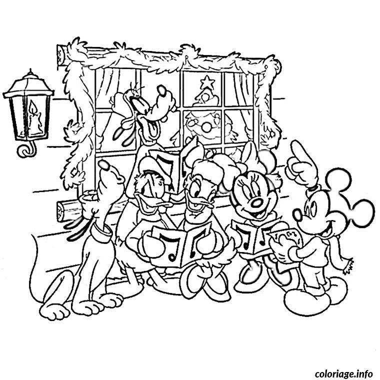 Coloriage De Noel De Disney Jecoloriecom