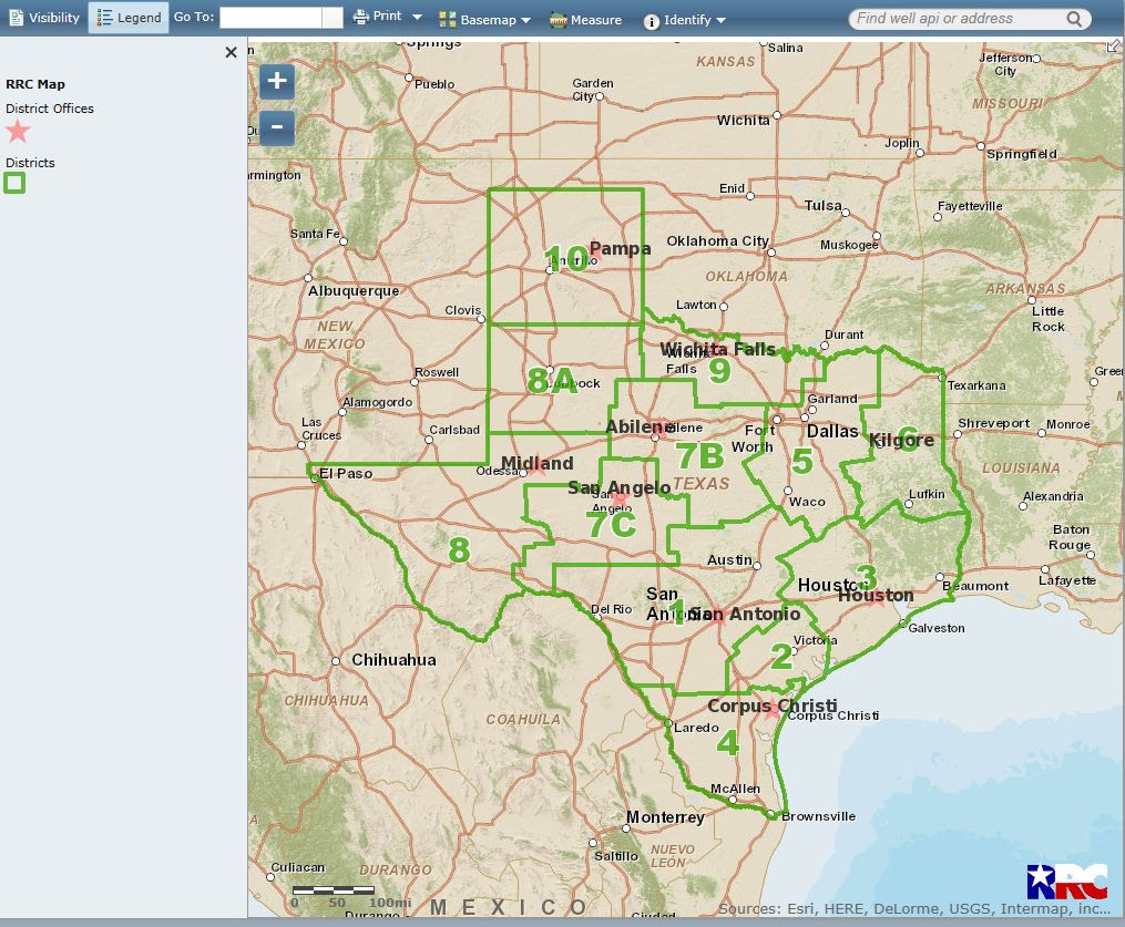 Texas Railroad Commissions New Gis Viewer Up And Running