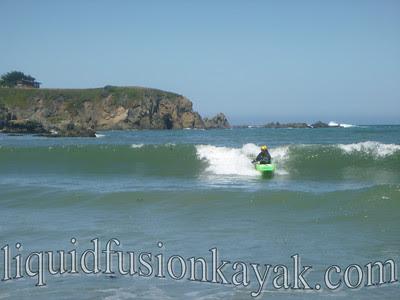 Mendocino Kayaking Surfing