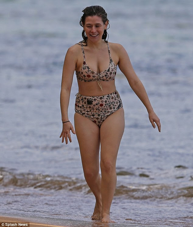 Stripping down:Orange Is The New Black star Yael Stone showed off her curvy figure in a bikni last week as she holidayed in Hawaii with co-stars Taylor Schilling, Uzo Aduba and Adrienne C Moore