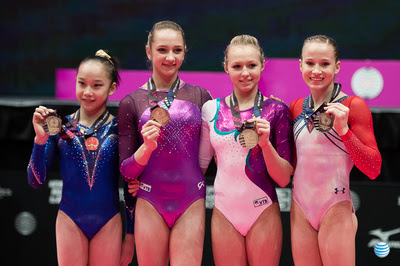 USA Gymnastics: Oct. 31 - Event Finals Day 1 &emdash; The four uneven bars gold medalists