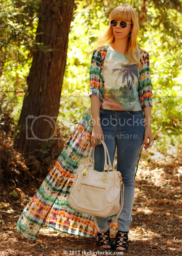 Zara tie dye dress, Topshop ombre jeans, Aldo Maune wedges, Aldo Ollom bag, Los Angeles fashion blogger, southern California style