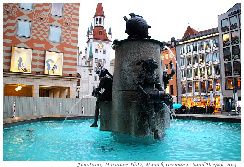 Around the World in 30 beautiful Fountains - Munich, Germany - Images by Sunil Deepak