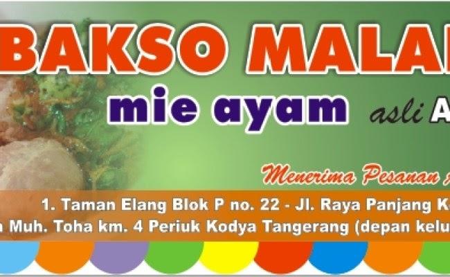 Banner Bakso Dan Mie Ayam Cdr - gambar contoh banners
