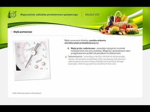 4.8 Sprzęt i aparatura kontrolno - pomiarowa stosowana w przetwórstwie spożywczym