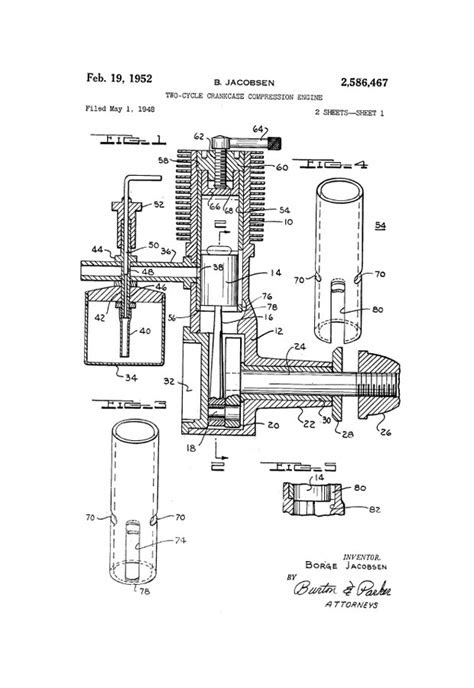 RCLibrary : Patent: Two-Cycle Crankcase Compression Engine