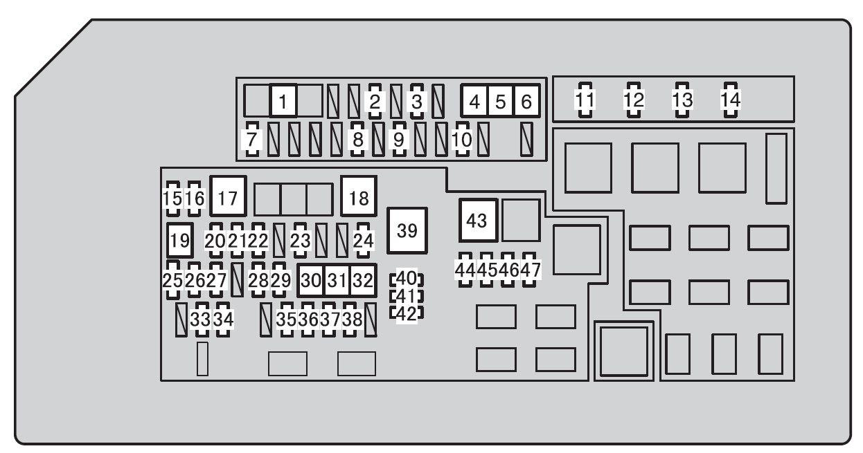 Toyota 4runner 2010 2012 Fuse Box Diagram Auto Genius