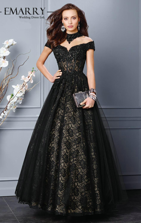 Long black evening dress size 12