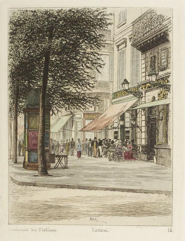 Boulevard des Italiens - Tortoni 1877
