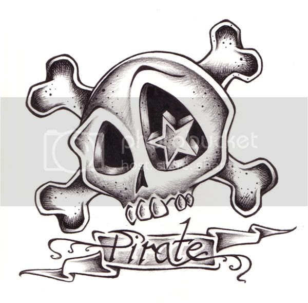 SKULL PIRATE TATTOO HIS name start with a B end with a S/ as far as u