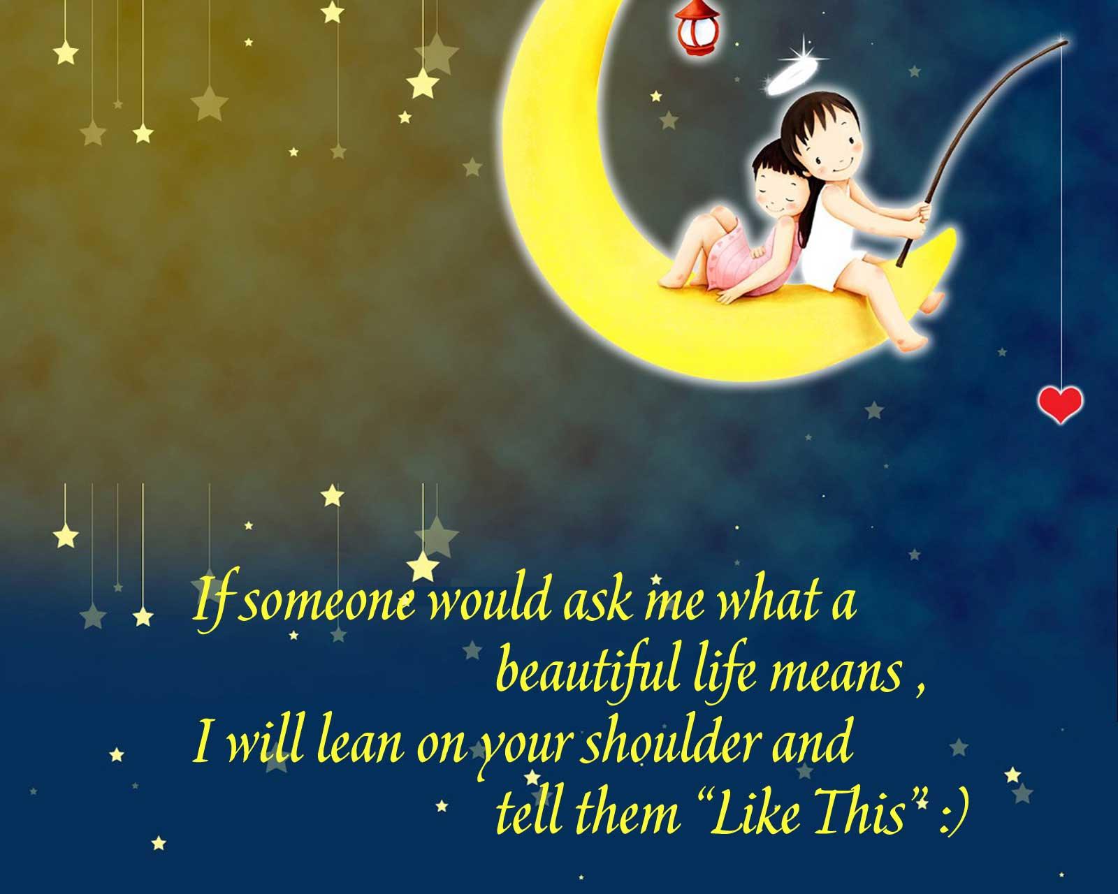 Cute Cartoon Life Quotes Wallpaper Free Download hd