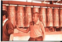 Tibetan prayer wheels