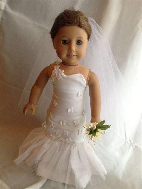 One Shoulder Mermaid Wedding Dress For American Girl 18