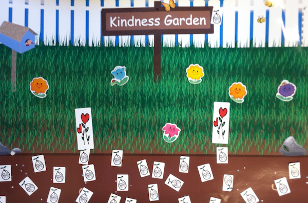 students create a kindness garden at school