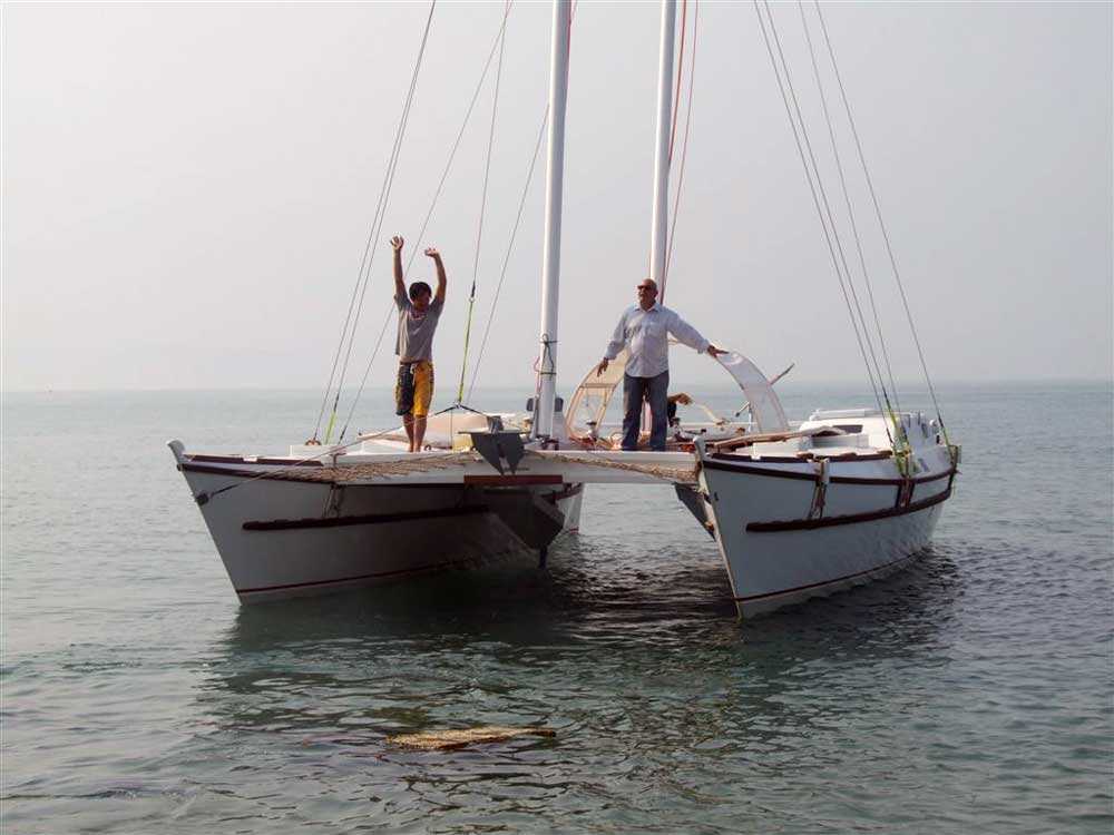 Sailing Catamaran TIKI 38' - Click to zoom.