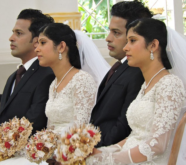 Big day: But Dilraj told MailOnline he wanted even more there - adding: 'In our twins get-together, usually there will around 10 to 12 sets of twins, but I could arrange only seven twins for my wedding'
