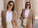 Trời se lạnh chưa biết mặc gì vừa đẹp vừa chất thì bạn hãy diện áo blazer và quần short là có ngay outfit 10 điểm