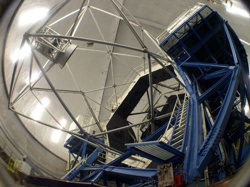 One of the two 10-meter-in-diameter (33-feet-in-diameter) Keck telescopes.