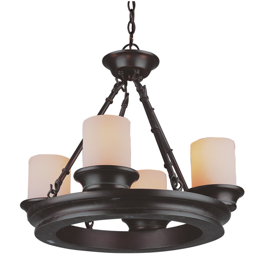 Shop allen + roth 4Light Oil Rubbed Bronze Chandelier at Lowes.com