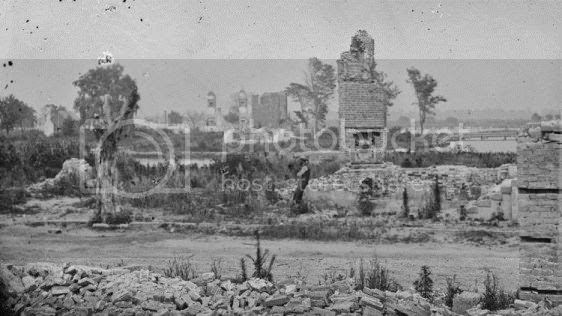 town of Hampton after being burned by Confederates