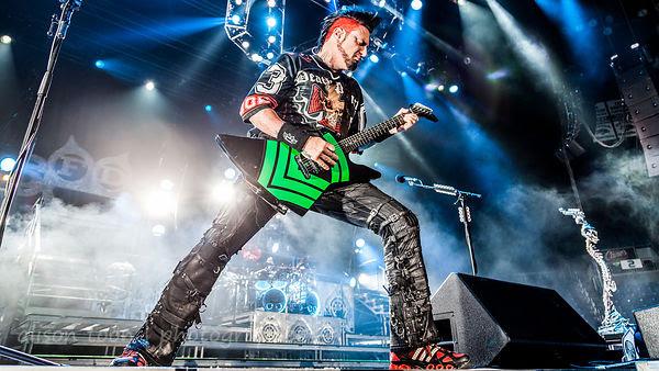 Jason Hook, guitars, Five Finger Death Punch