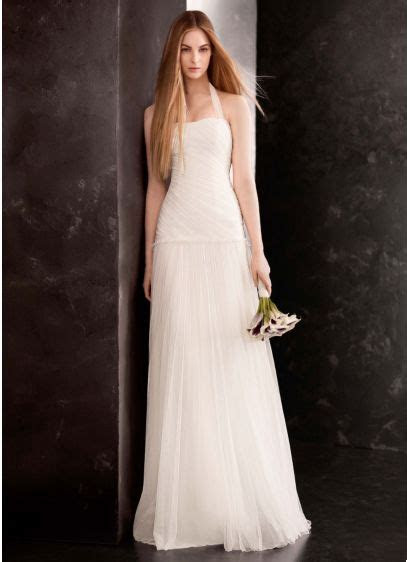 White by Vera Wang Bobbin Net Halter Wedding Dress   David