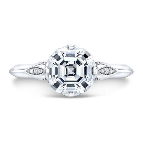 1.10 Ct. Asscher Cut Vintage Inspired Diamond Engagement