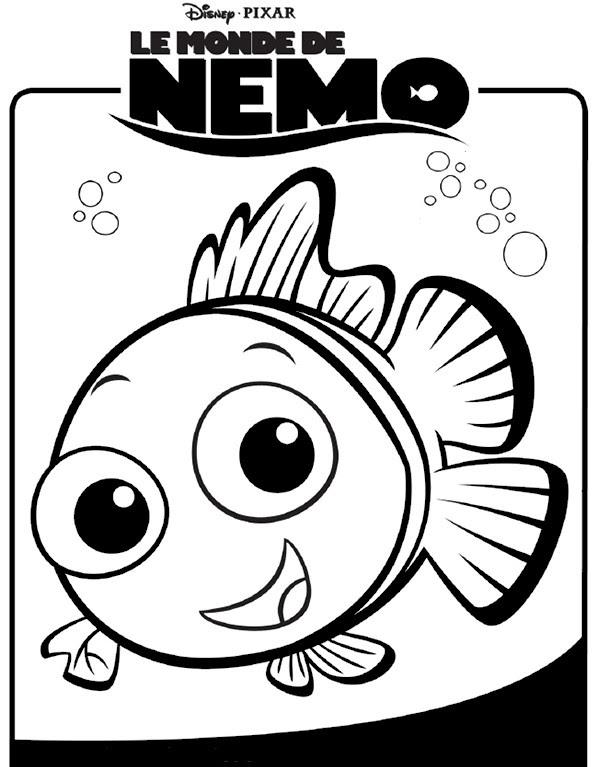 Coloriage A Imprimer Le Monde De Nemo Gratuit Et Colorier