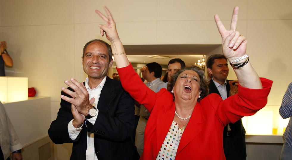 Las fotos censuradas en Valencia  - La alegría de Rita Barberá