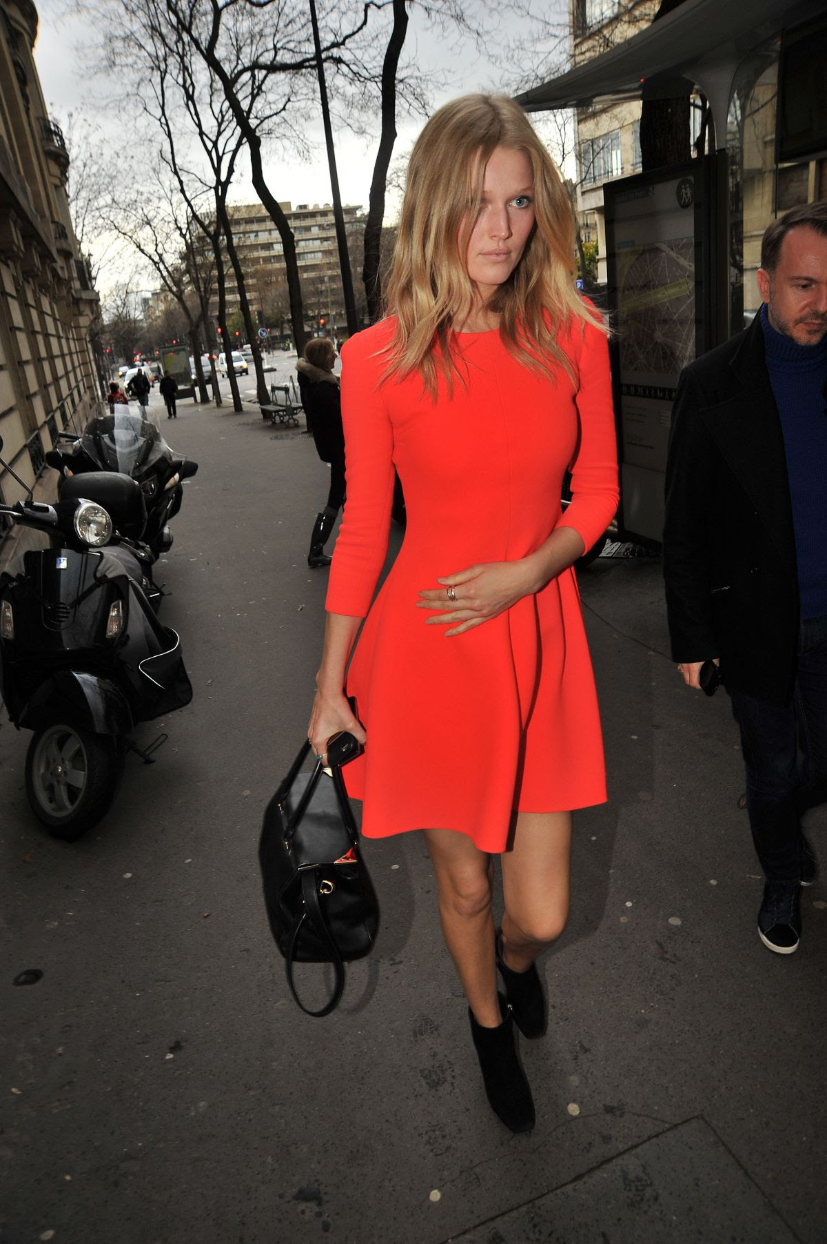 TONI GARRN Arrives at Elie Saab Fashion Show in Paris 04/03/2016