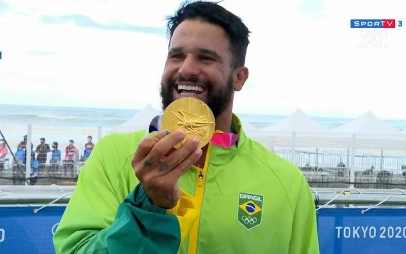 Conquista da medalha de ouro em Tóquio rende premiação de R$ 250 mil para Italo Ferreira