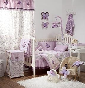 Amazon.com - [Butterfly Purple] Crib Baby Girl Bedding Sets Crib ...