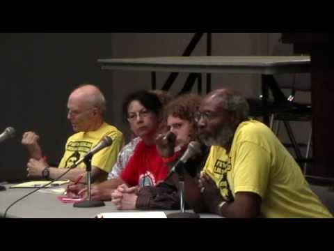 "Abayomi Azikiwe on panel at the USSF with Caleb Maupin, Berta Joubert-Ceci and Fred Goldstein. The panel was entitled ""Capitalism is Killing Us."" (Photo: Jean Irwin) by Pan-African News Wire File Photos"