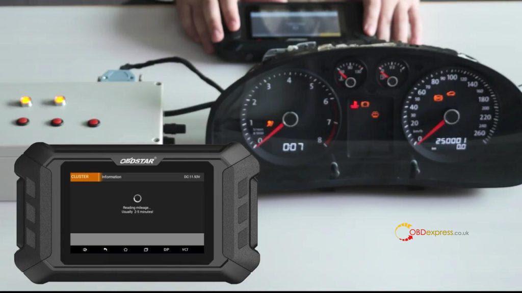 Obdstar Odo Mästare VW Passat vägmätare Correction 10