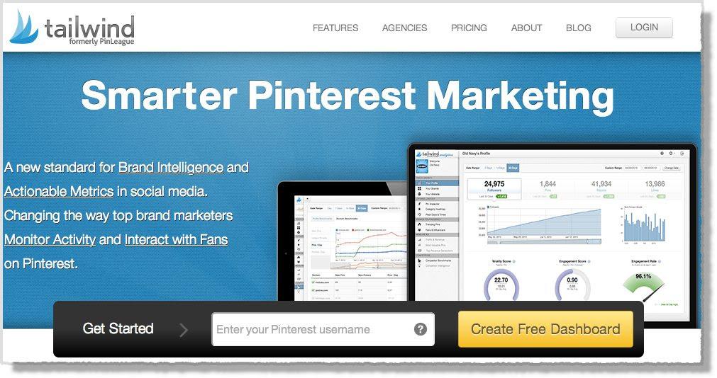 Pinterest tool Tailwind